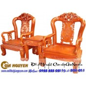 Bộ bàn ghế giả cổ minh quốc tam sư