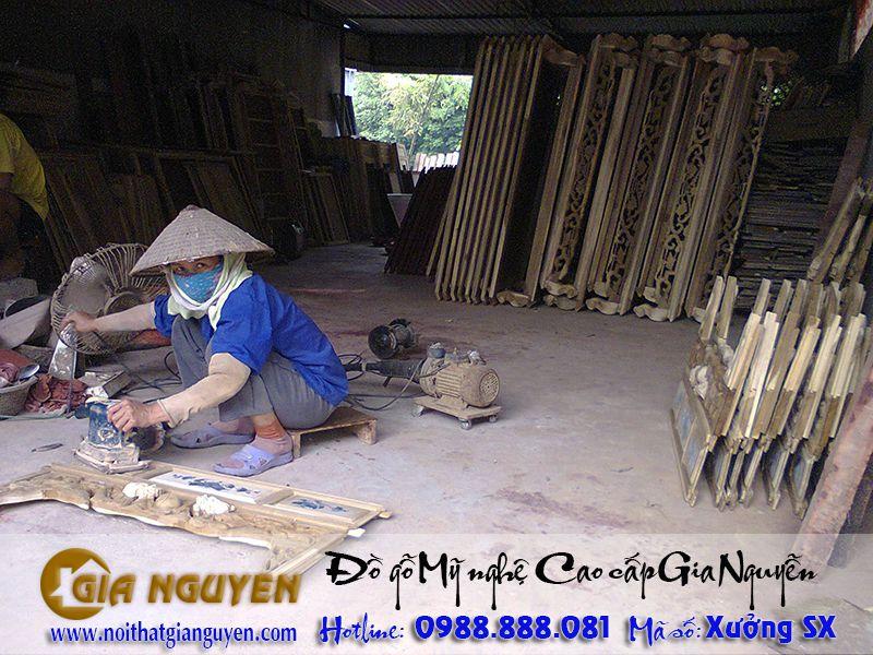 Hình 02 - Xưởng sản xuất đồ thờ gỗ tự nhiên